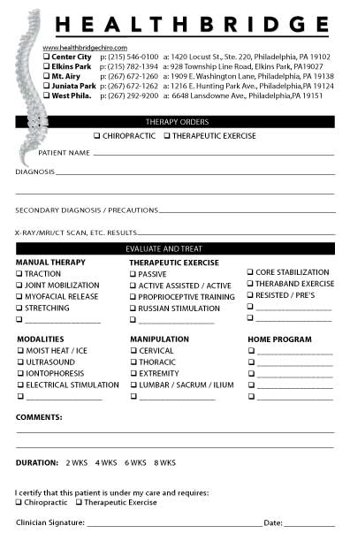 chiropractic referral pad templates