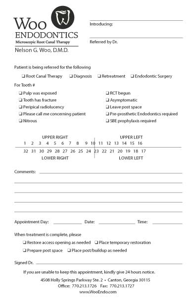 dental referral form template - 28 images - referral form template ...