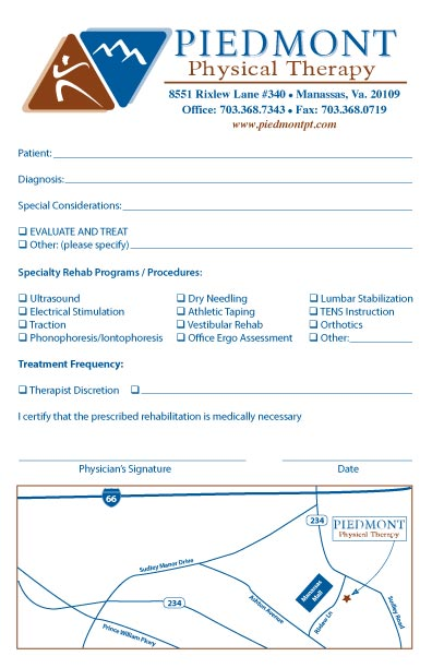 Referral pad samples by specialty: