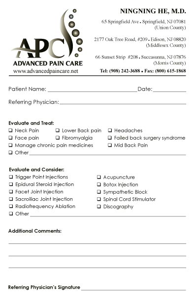 Referral Pad Samples By Specialty  MedicalForms
